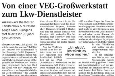 2011 – Von einer VEG-Großwerkstatt zum Lkw-Dienstleister